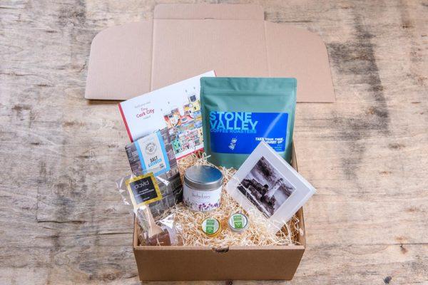 Cork gift box packed